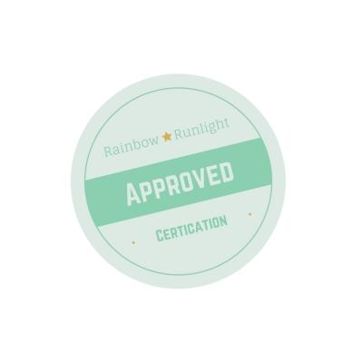 Certificat d'approbation Rainbow et Runlight