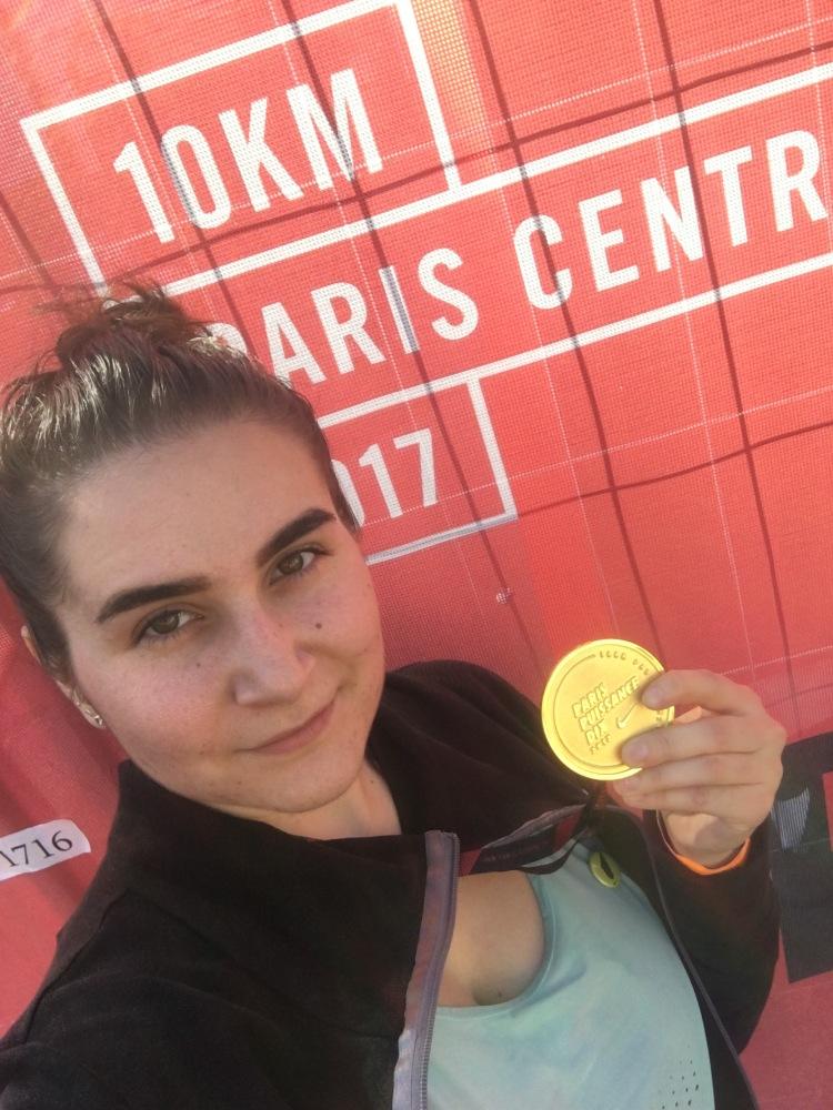Selfie post 10km Paris Centre