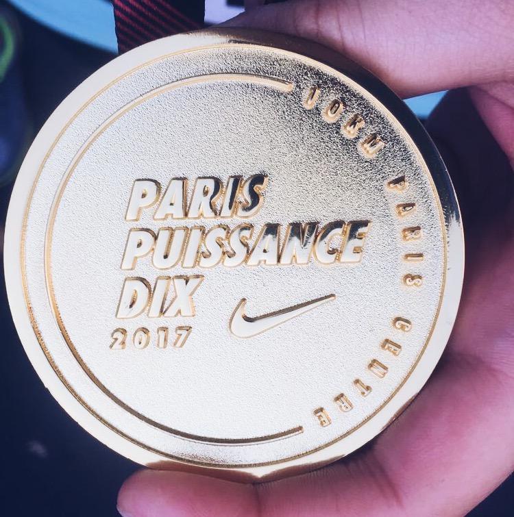 Médaille 10km Paris Centre 2017
