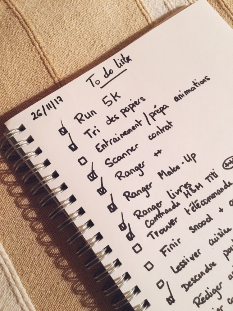 To do list façon bullet journal rainbow&runlight