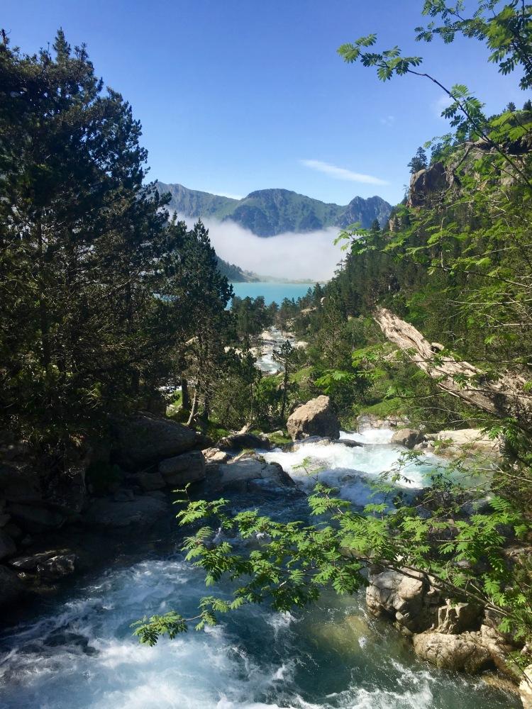 Vue sur le lac de Gaube